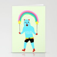yolo Stationery Cards featuring Yolo by Saif Chowdhury