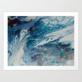 Low Tide Acrylic Pour Art Print