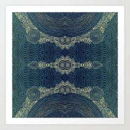 Indigo Batik Art Print