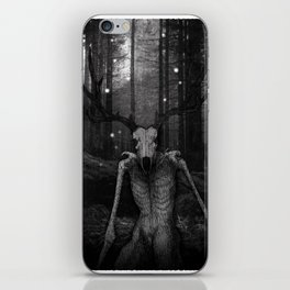Wendigo Black and White Illustration iPhone Skin