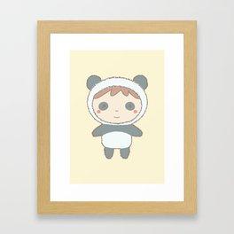 Cute Panda Kid Framed Art Print