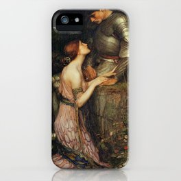 Lamia and the Soldier - Princess and Knight by John William Waterhouse iPhone Case