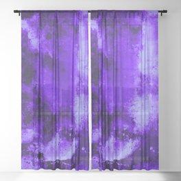 psychedelic color gradient pattern splatter watercolor purple Sheer Curtain