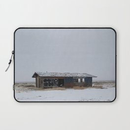 Hopeless, Abandoned, and Alone Under Grey Snow Filled Sky Laptop Sleeve