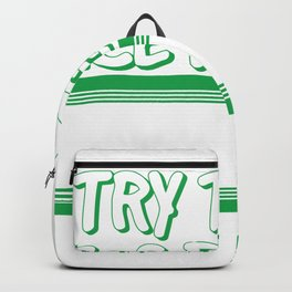 """""""I Try To Be A Nice Person But Sometimes My Mouth Doesn't Cooperate"""" T-shirt Design  Backpack"""