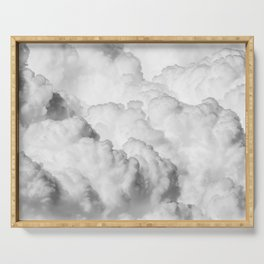 White Clouds Serving Tray