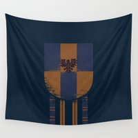 ravenclaw Wall Tapestries featuring ravenclaw crest by nisimalotse