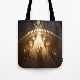 Moon and cat Tote Bag