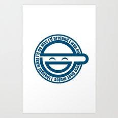 Laughing Man Art Print