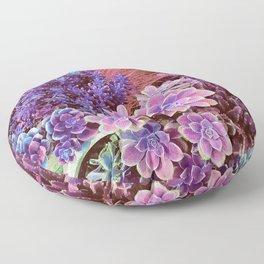 Succulent Garden View Floor Pillow