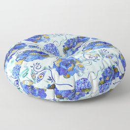 Bold, Patterned Flowers Floor Pillow