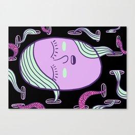 Sleepy Head (girl) Canvas Print