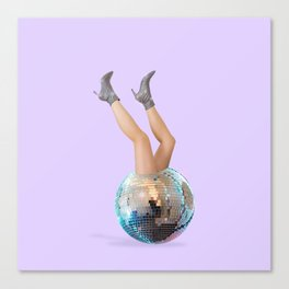 Disco Legs Canvas Print