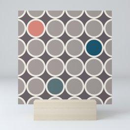 Scalloped Circles in Ash Mini Art Print