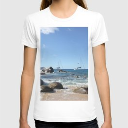 Sailing Boats at the Baths, BVI T-shirt