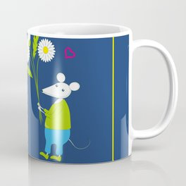 pair of white enamored mouses Coffee Mug