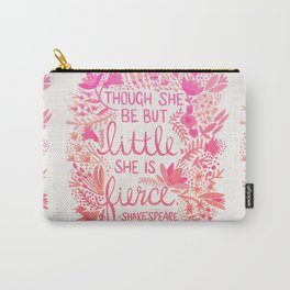 Little & Fierce – Pink Ombré Carry-All Pouch