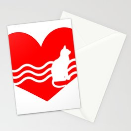 Cute Lovely Cat My Heart Stationery Cards