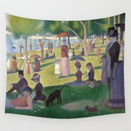 Georges Seurat - A Sunday Afternoon on the Island of La Grande Jatte Wall Tapestry