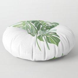 Monstera Leaves 3 Floor Pillow