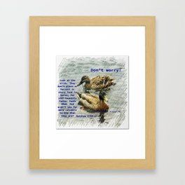 Don't worry, God cares for the birds, bible verses Framed Art Print