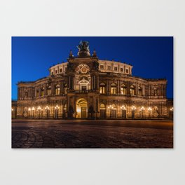 Famous Semper Opera House in Dresden, Germany Canvas Print