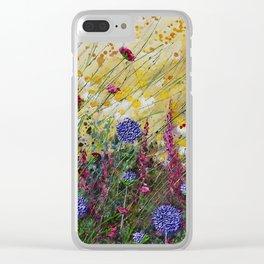 Monty's Garden Clear iPhone Case