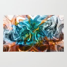 liquified time Rug