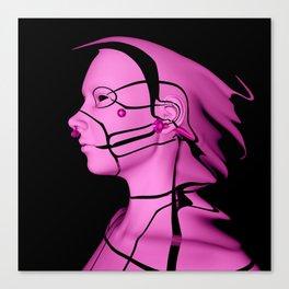 Pink Cyborg Canvas Print
