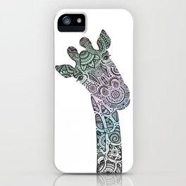 Giraffe in Tri Pastel Colours iPhone Case