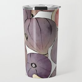 figs still life botanical watercolor Travel Mug