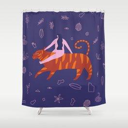 Night safari poster Shower Curtain