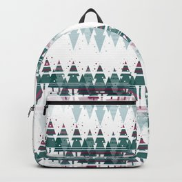 Family Christmas Trees in Snowy Winter ~ Christllax's Line Backpack