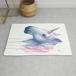 Blue Pink Unicorn Rug