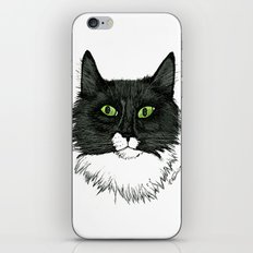 Curly Sue the Tuxedo Cat iPhone & iPod Skin