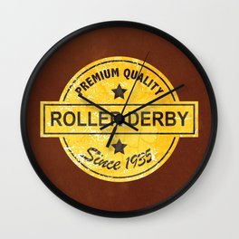 Premium Quality Roller Derby Since 1935 Wall Clock