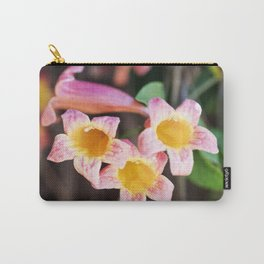 Tangerine Beauty Cross Vine - Three Plus One Carry-All Pouch