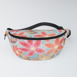 Cute Lilies and Leaves Fanny Pack