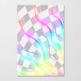 Fractured Colors Canvas Print