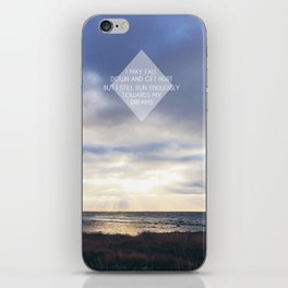 Run Endlessly Towards Your Dreams iPhone Skin