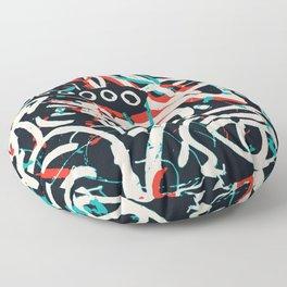 Street Art Pattern Graffiti Post Floor Pillow