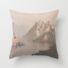 Canyon Landscape With River Throw Pillow