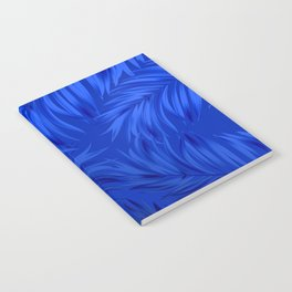 Palm Tree Fronds Brilliant Blue on Blue Hawaii Tropical Décor Notebook