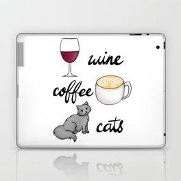 Wine Coffee Cats Laptop & iPad Skin