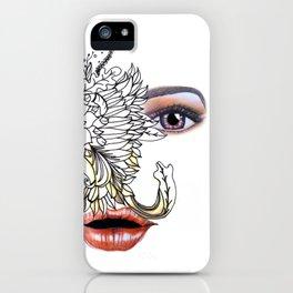 rostros y flores iPhone Case