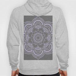Mandala Flower Gray & Lavender Hoody