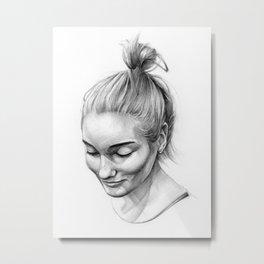Head Metal Print