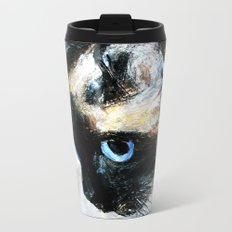 Siamese Cat Unedited Metal Travel Mug