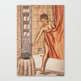 Pinup - Shower Call Canvas Print