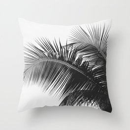 #03#B&W#Palm#tree Throw Pillow